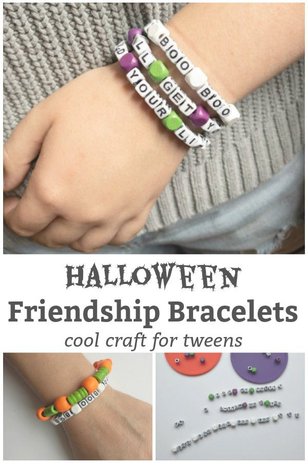 halloween friendship bracelet halloween craft for tweens and teens featured image