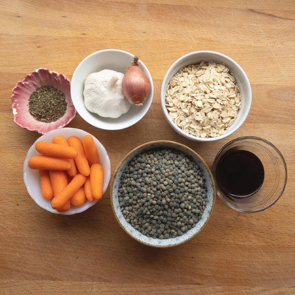 ingredients for lentil meatloaf