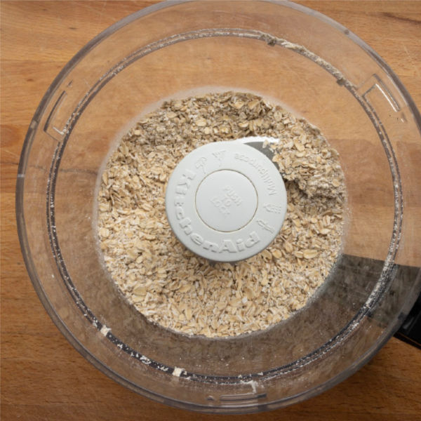 large flake oats in food processor