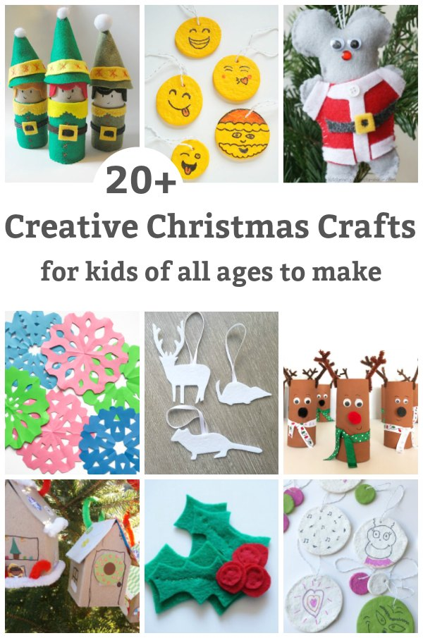 Christmas crafts for kids of all ages to make