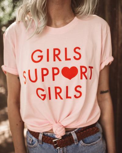 girls support girls tshirt for teens