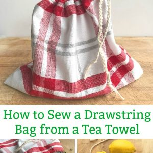 how to sew a drawstring bag from a tea towel pin