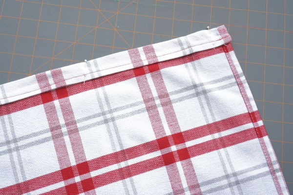 tea towel drawstring bag drawstring channel sewn