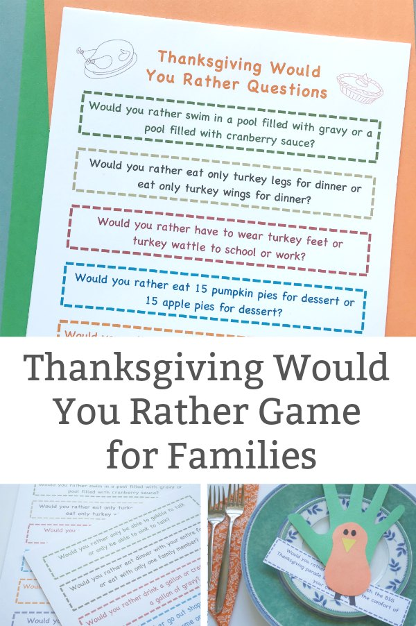 thanksgiving would you rather questions for kids
