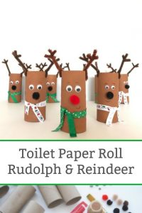toilet paper roll reindeer craft featured image