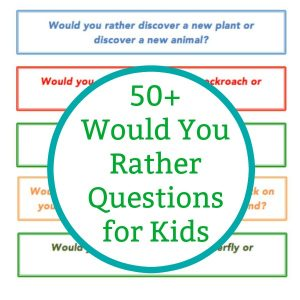 kids would you rather questions