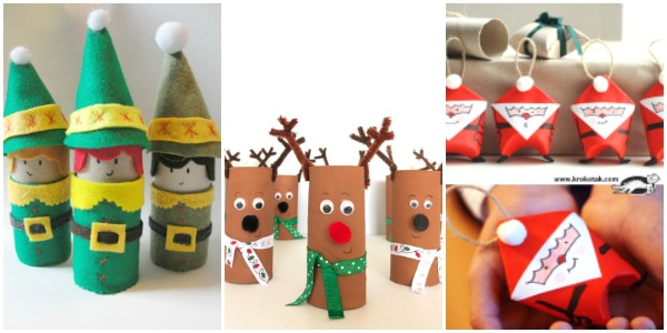 christmas toilet roll craft collage