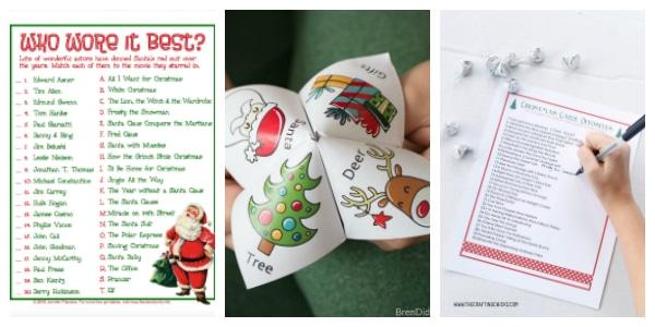 free christmas games to print