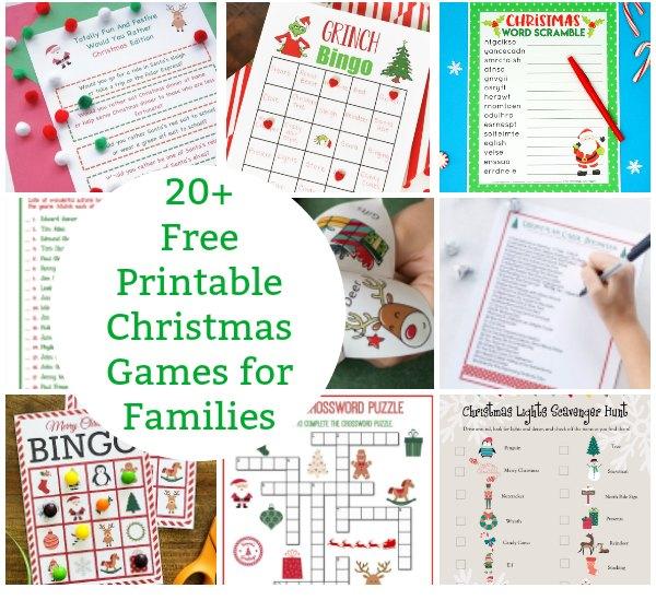 20+ Free Printable Christmas Games for