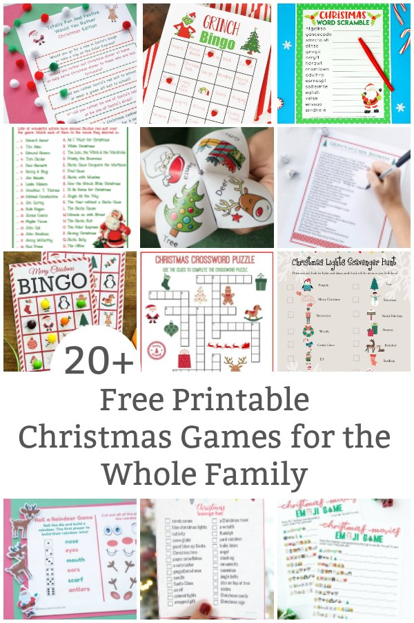 free printable christmas games for the whole family featured image