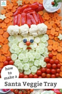 how to make a santa veggie tray