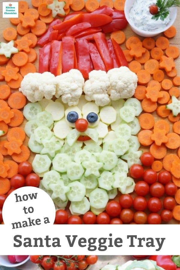 how to make a santa veggie tray