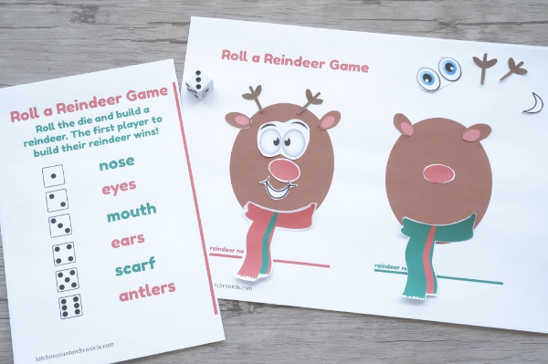 playing the roll a reindeer game