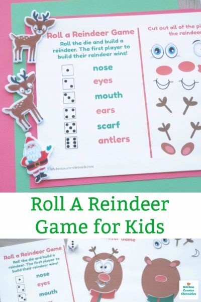 roll a reindeer game for kids