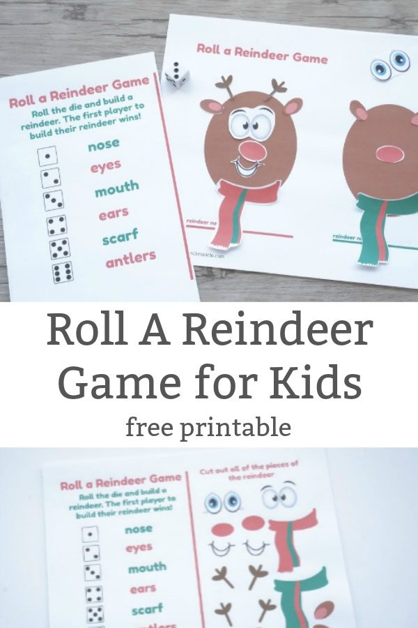 roll a reindeer game free printable