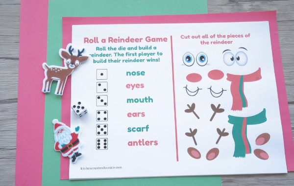 roll a reindeer game with dice
