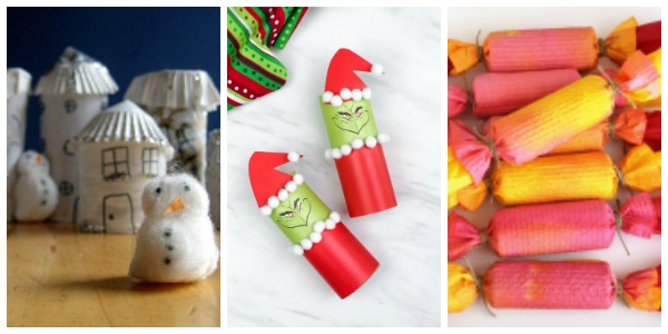 toilet roll christmas crafts collage