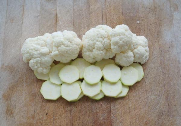 vegetable santa face cauliflower hat trim