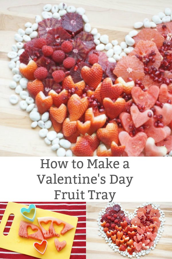 heart shaped valentine fruit tray ideas