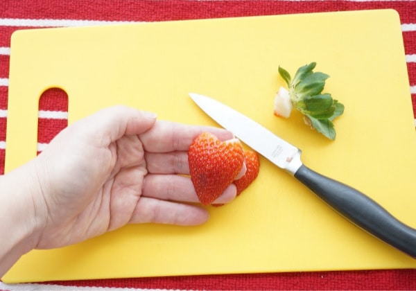how to make a strawberry heart final