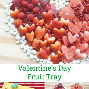 how to make a valentine day fruit tray idea