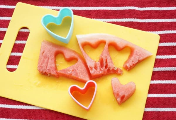 how to make watermelon hearts