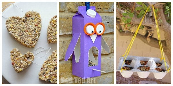 simple bird feeders to make at home