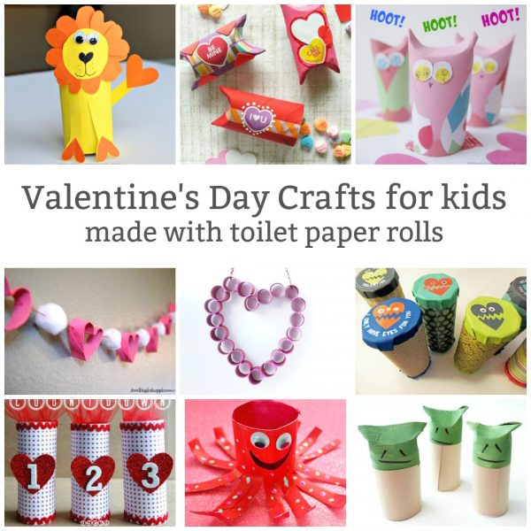 toilet paper roll valentine crafts social