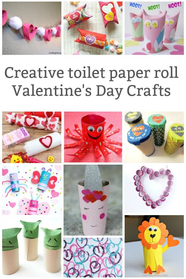 valentines day toilet paper roll crafts for kids to make