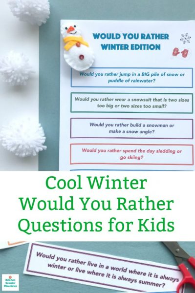 would you rather questions winter themed