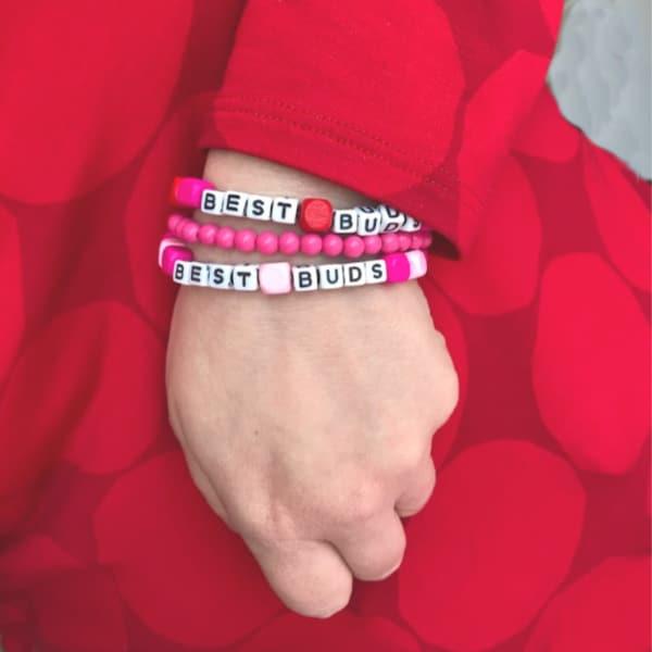 best buds bracelet diy on wrist