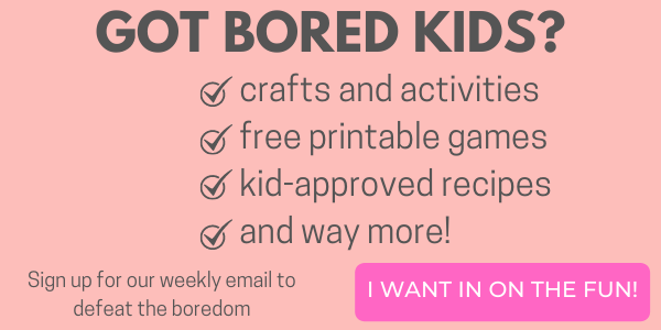 bored kids email opt in button