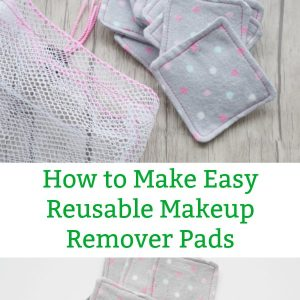 how to make easy reusable makeup remover pads