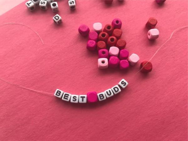 wooden beads for bracelet on elastic string