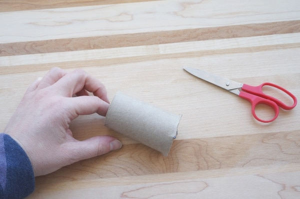 cutting the bottom of the toilet paper roll folded bottom