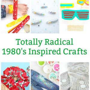 1980s craft project for teens