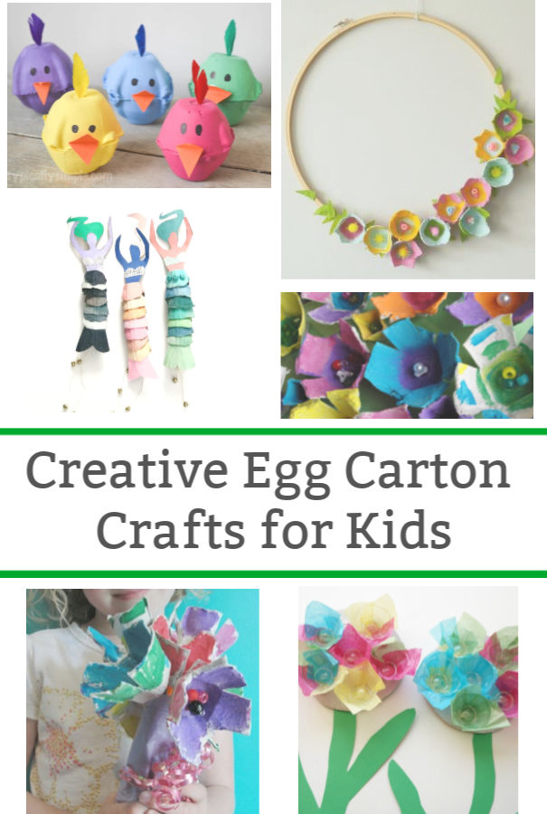 creative egg carton crafts for kids