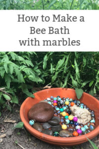 how to make a bee bath with marbles