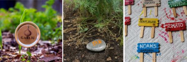 rock vegetable garden markers