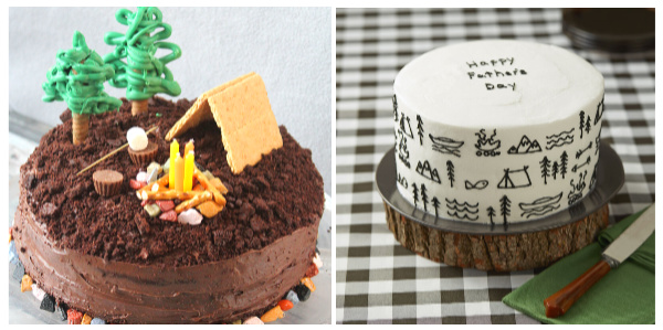 Father's Day Cakes Camping Cakes