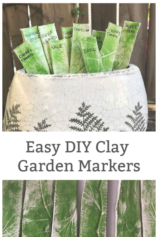 easy clay vegetable garden markers how to