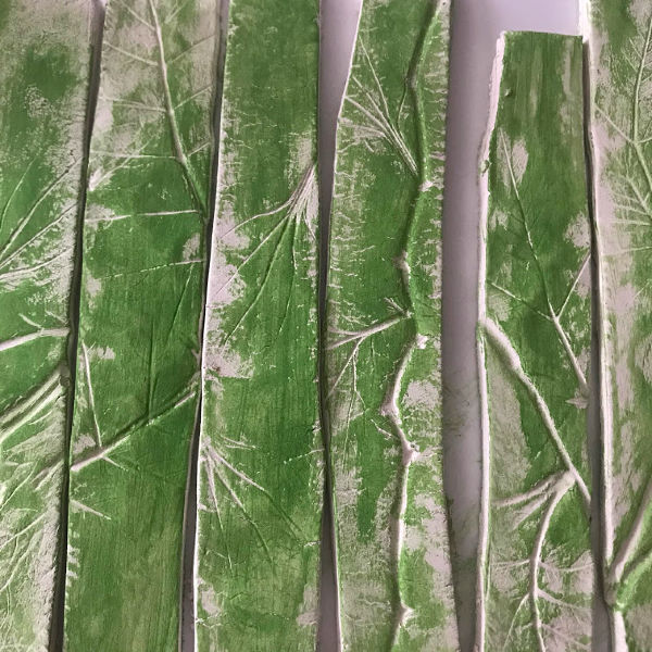 dry brush painting clay garden markers