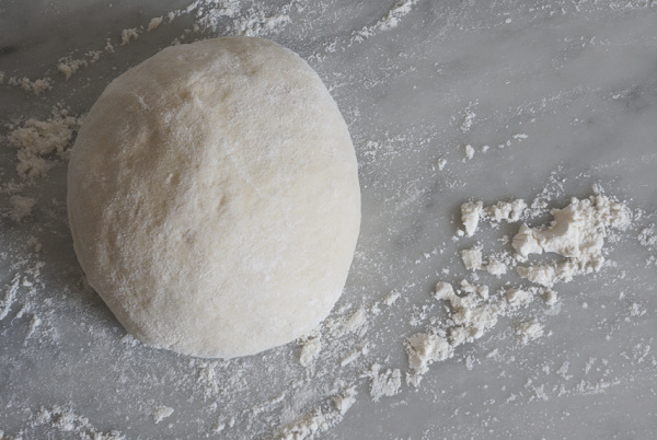 ball of calzone dough