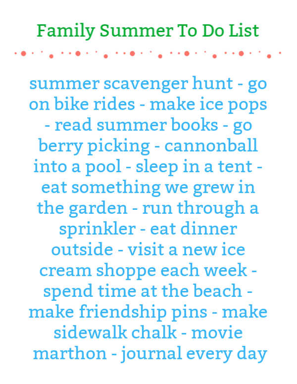 family summer vacation to do list image of the printable
