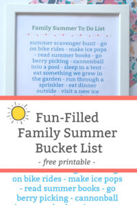 family summer to do list featured image