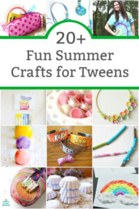 fun summer crafts for tweens and teens collage image
