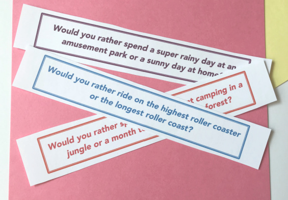 sample of summer would you rather questions