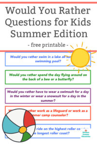 summer would you rather questions for kids featured image