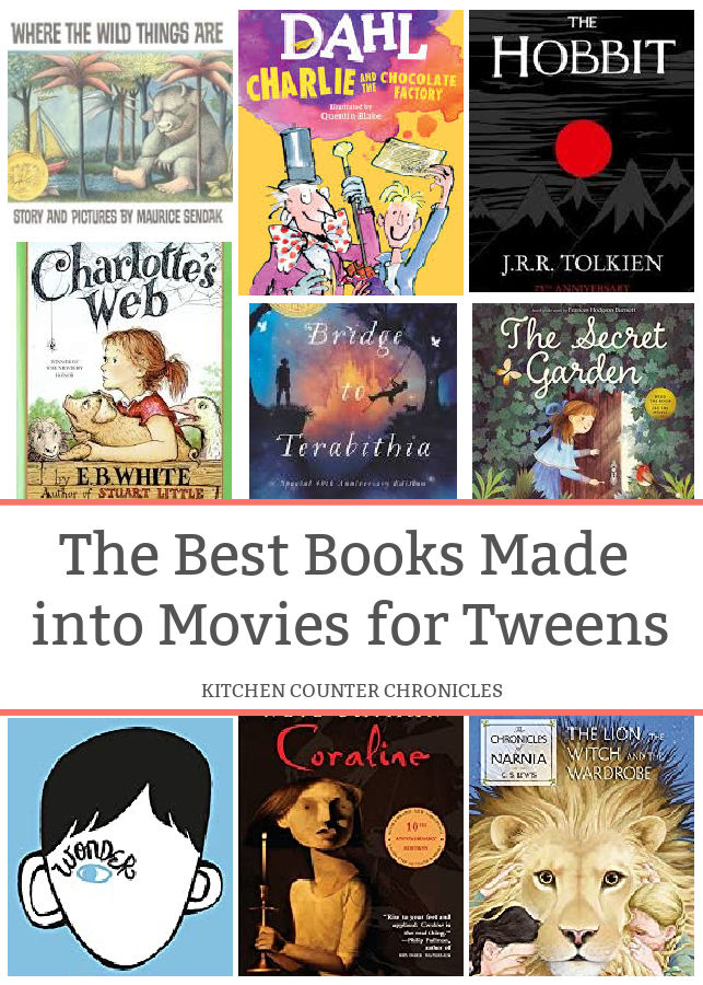 the best books made into movies for tweens