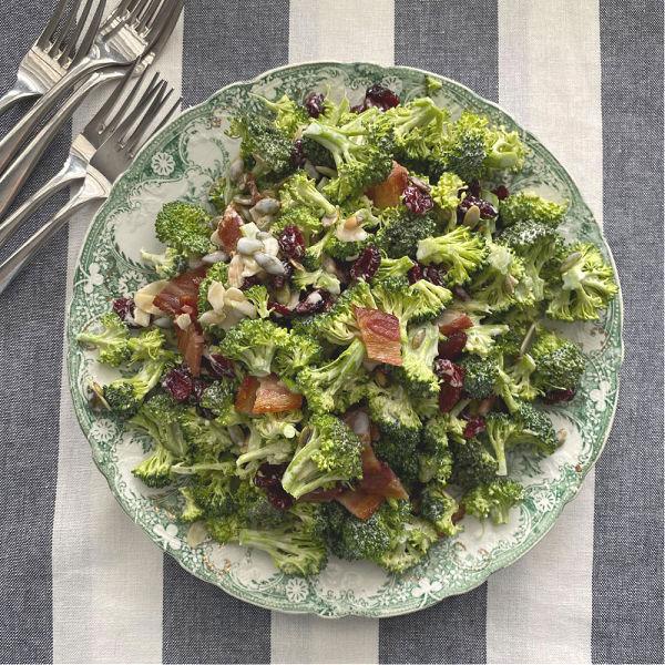 broccoli salad on plate